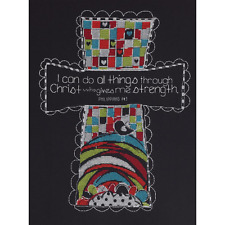 2013 Bucilla I CAN DO ALL THINGS Counted Cross Stitch Kit PHILLIPPIANS 4:13