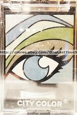 CITY COLOR Eye Shadow Palette ASSORTED Shades~8 Colors~Green+Blue+White+Black