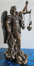 St Saint Michael Archangel weighing Souls in Scales Statue Figure #WU75218A4