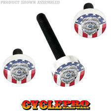 Windshield Bolt Kit for 14-Up Harley Electra & Street POLICE BADGE USA FLAG 154