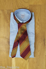 *GIANFRANCO FERRE* CLASSIC BROWN AND RED ITALIAN MADE SILK TIE
