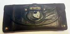 Juicy Couture Black Leather Juicy Princess Mad Money Trifold Wallet Clutch