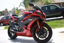 Red w/ Matte Black Fairing Injection for 2006-2007 Yamaha Yzf R6 R600 YZF-R6