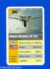 [GCG] SUPERCARTINE - SCHMID - Figurina-Sticker n. 8C - GENERAL DYNAMICS FB 111A