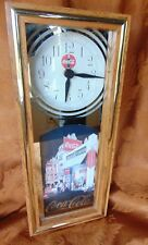 Vintage Working Coca Cola Town Corner Cafe Wall Clock
