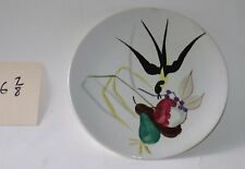 """Chipped Red Wing Capistrano Plate 6.9"""" Dia Anniversary Hand Painted"""