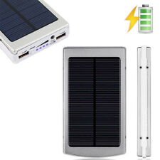 Sliver 80000mAh Dual USB Portable Solar Battery Charger Power Bank For Phone USA