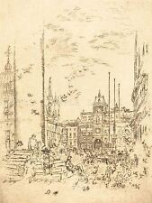 JAMES MCNEILL WHISTLER AMERICAN PIAZZETTA OLD ART PAINTING POSTER BB5784A