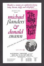 """Michael Flanders """"AT THE DROP OF ANOTHER HAT"""" Donald Swann 1966 Tryout Flyer"""