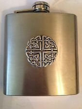 Large Celtic Knot PP-G38 english pewter 6oz Stainless Steel Hip Flask