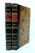 J. J. ROUSSEAU -  LETTRES SUR DIFFERENTS SUJETS de LITTERATURE- Ed BARILLOT 1750