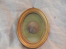Set of 2 Framed 1969 New Zealand One Dollar Coins Queen Elizabeth II Cook Oval