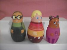 DISNEY HIGGLYTOWN HEROES 3 PIECE LOT RUBBER FIGURES EUBIE WAYNE TWINKLE RETIRED