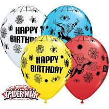 "10 x merveilles Ultimate Spiderman Joyeux Anniversaire 11 ""Qualatex Ballons de latex"