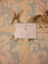 "1 Williams Sonoma Easter Bunny Damask Tablecloth 70x108""  NWT Rabbit"