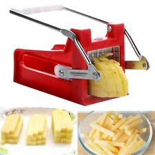 Stainless French Fries Potato Slicer Chipper Chip Cutter Chopper Maker 2 Blades