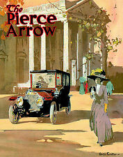 Vintage Transport Travel Advertising Poster RE PRINT Pierce Arrow 2