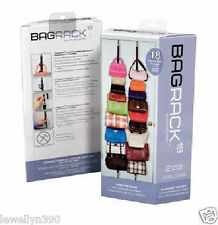 Purse rack hand bag rack by perfect curve over the door Holds up to 18 Bags  NEW