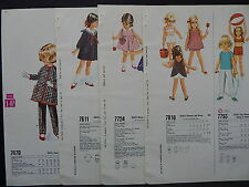 McCalls, 1966 Counter Catalog, Children & Babies Fashion 4 Double-Sided Pages #2