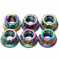 6x Rainbow Titanium Rear Sprocket Nuts Ducati Panigale 1098, 1198, 1199 1299 S R