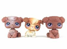 Lot 3 Littlest Pet Shop 37 38 39 Poodle Dog Chien / LPS Hasbro