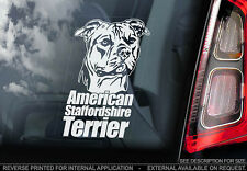 American Staffordshire Terrier - Car Window Sticker - Dog Sign -V02