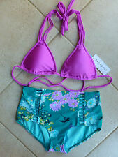 Seafolly Bikini AU 10 Vibe Tri Slide Top & Maldive Songbird High Waist Pant