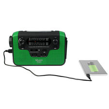 FM/AM/SW Radio Receiver Hand Crank Phone Charger Bluetooth Speaker Flashlight CO