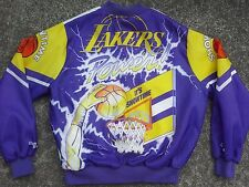 VTG 90s Los Angeles Lakers Chalk Line Fanimation jacket LA 80s starter jersey M