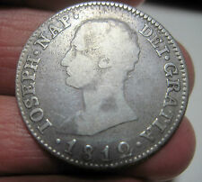 1812 S.L.A (SPAIN) 4 REALES (SILVER) MADRID (NAPOLEON ) -- VERY RARE----
