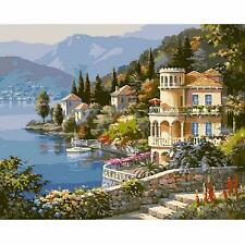 "16""x20"" Villa New DIY Paint By Number Kit Painting On Canvas Home Decoration"