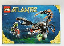 LEGO   8076   atlantis    NOTICE/ INSTRUCTIONS BOOKLET / BAUANLEITUNG