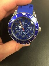 High Quality Real Working Wrist Watch With Secret Stash Tobacco Grinder Blue