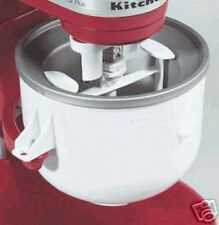 KitchenAid KICA Ice Cream frz yogurt sorbet Maker Stand Mixer Attachment KICAOWH