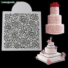 Lace Flowers Molds Cake Fondant Side Stencil Wedding Plastic Decorating Tools