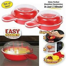 2x Easy Cooking Eggwich Tool Microwave Cheese Bacon Egg Cooker Fast Egg Maker