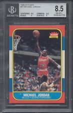 1986 Fleer #57 Michael Jordan Rookie BGS 8.5