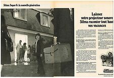Publicité Advertising 1975 (2 pages) Le Projecteur sonore Silma