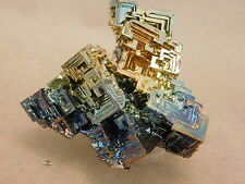 A Very Symmetrical Blue and Gold Colored BISMUTH Crystal Germany! 84.5gr