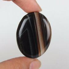 39CT TOP QUALITY  NATURAL BANDED AGATE FOR SALE  OVAL CABOCHON LOOSE GEMSTONE