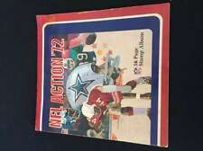 1972 NFL ACTION STAMP ALBUM MISSING 1 STAMP LOT1186