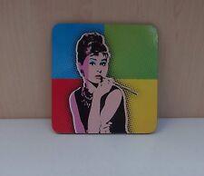 4 Untersetzer Audrey Hepburn Kino Icon Prominent Geschenk Verpackt Tolles Idee