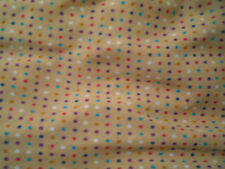 COUPE TISSU MOUSSELINE POLYESTER FOND BEIGE POIS MULTICOLORES