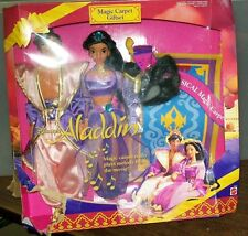 "DISNEY'S MAGIC CARPET GIFT SET ALADDIN & JASMINE 12"" FIGURES NIP 1993 #sw-350"