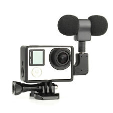 7 in 1 3.5MM USB Stereo Microphone +Adapter+Frame Housing for Gopro HERO 3 3+ 4