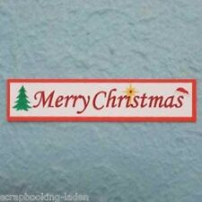 30 x Merry Christmas 9 cm Textfahne Scrapbooking 3-D