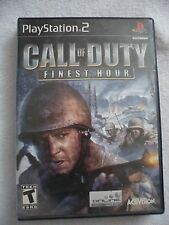 Call Of Duty Finest Hour PS2 Playstation 2  Video Game Game Black Label