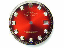 Men's Rolex Datejust 2Tone red vignette Non-Quickset Pie Pan 1601 With Diamonds