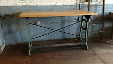 Cast Iron Cranking Table Bar Industrial Stand Desk Kitchen Drafting Table