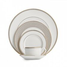 Waterford Lismore Diamond Gold 60Pc China Set, Service for 12